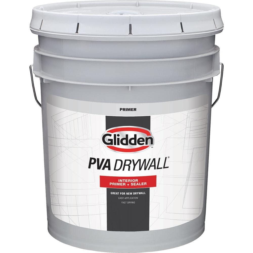Glidden Pva 5 Gal Drywall Interior Primer Gpd 0000 05 The Home Depot