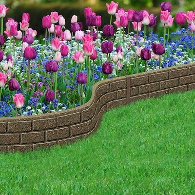 EZ Border Bricks 4 ft. Earth Rubber Garden Edging