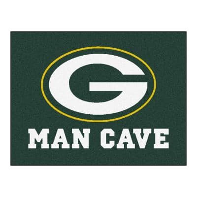 Green Bay Packers Green Man Cave 3 ft. x 4 ft. Area Rug