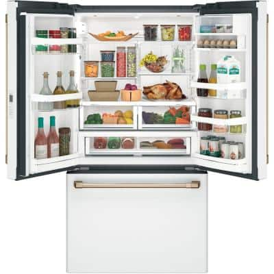 23.1 cu. ft. Smart French Door Refrigerator in Matte White, Counter Depth and Fingerprint Resistant