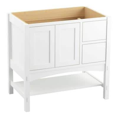 Marabou 36 in. Bath Vanity Cabinet Only in Linen White