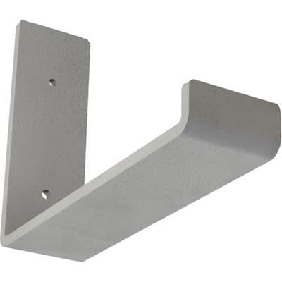 2 in. x 6 in. x 8 in. Hammered White Steel Hanging Shelf Bracket