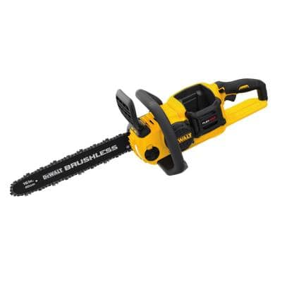 16 in. 60V MAX Lithium-Ion Cordless FLEXVOLT Brushless Chainsaw w/2Ah Battery, Charger & 8 in. 20V Pole Saw(Tool Only)