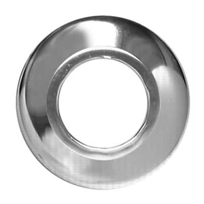 1-1/4 in. Low-Pattern Flange Escutcheon Plate in Chrome-Plated Steel