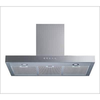 30 in. 520 CFM Convertible Wall Mount Range Hood in Stainless Steel with Mesh Filters and Push Sensor Control