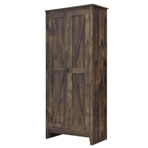 Systembuild Brownwood 31 5 In W Rustic, Rustic Storage Cabinets