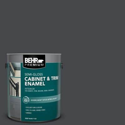 1 gal. #PPU26-23A Dark Secret Semi-Gloss Enamel Interior Cabinet and Trim Paint