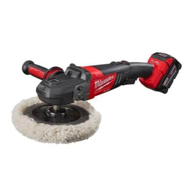 M18 FUEL 18-Volt Lithium-Ion Brushless Cordless 7 in. Variable Speed Polisher Kit W/ (2) 5.0Ah Battery & Charger