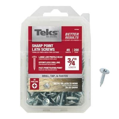 #8 x 3/4 in. Phillips Truss-Head Self-Drilling Screws (200-Pack)