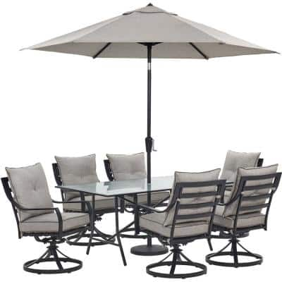 Umbrella Included Patio Dining Sets, Outdoor Patio Table And Chairs With Umbrella Hole
