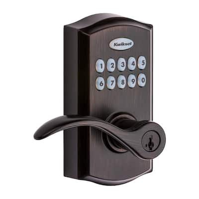 955 SmartCode Venetian Bronze Electronic Pembroke Door Lever Featuring SmartKey Security