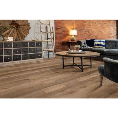 Inspiration 6 in. W Mimosa Adhesive Luxury Vinyl Plank Flooring (53.93 sq. ft./case)
