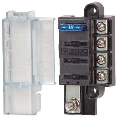 ST Blade Compact Fuse Block - Common Source, 4 Circuits