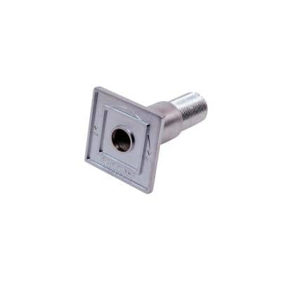 Universal Square Flange for 1/2 and 3/4 Gas Valve in Satin Chrome