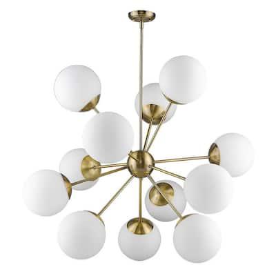Solea 12-Light Antique Brass Chandelier