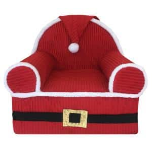 Baby Santa's 1st Red Christmas Foam Chair