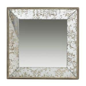 DualPurpose Gold Large Square Mirror/Tray