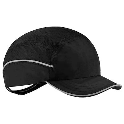 8955 Short Brim Black Lightweight Bump Cap Hat