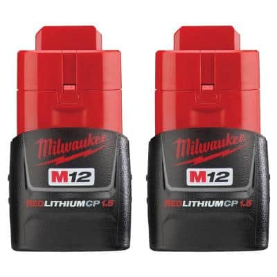 M12 12-Volt 1.5 Ah Lithium-Ion Compact Battery Pack (2-Pack)