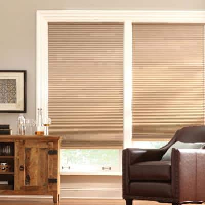 Latte Cordless Blackout Cellular Shade  - 22.5 in. W x 64 in. L