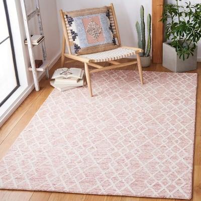 Metro Pink/Ivory 6 ft. x 9 ft. Diamond Geometric Area Rug
