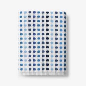 Spectrum Blue Geometric Cotton Single Bath Towel