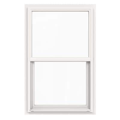 30 in. x 48 in. V-4500 Series White Single-Hung Vinyl Window with Fiberglass Mesh Screen