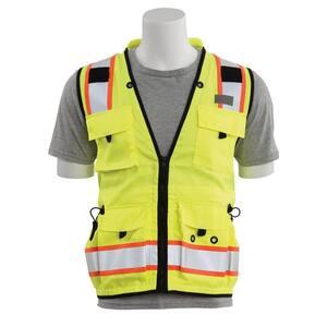 Erb S15z 5x Hi Viz Lime Poly Mesh Safety Vest 14631 The Home Depot