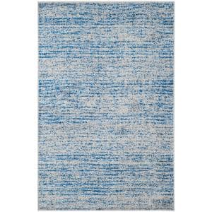 Adirondack Blue/Silver 4 ft. x 6 ft. Area Rug