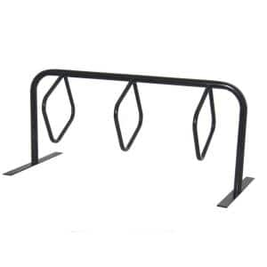6 ft, 3-Loop Commercial Surface Mount Hanger Bike Rack