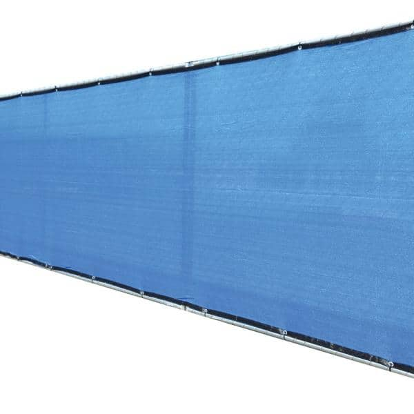 Fence4ever 58 In X 50 Ft Blue Privacy Fence Screen Plastic Netting Mesh Fabric Cover With Reinforced Grommets For Garden Fence F4e B550fs A 93 The Home Depot