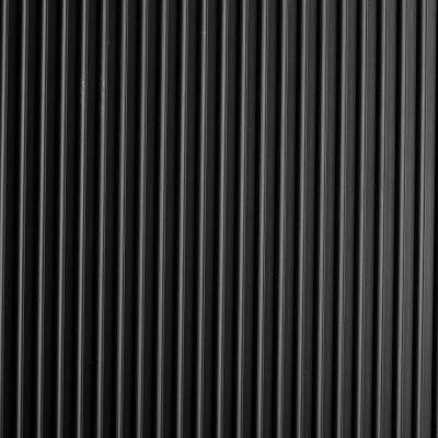 Black Round Ribbed 36 in. x 15 ft. Antimicrobial Vinyl Commercial Grade Runner Matting