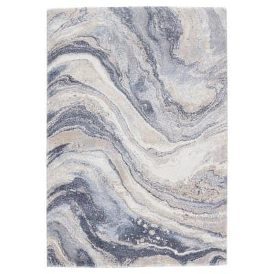 Vibe Orion Blue/Light Gray 8 ft. x 10 ft. Abstract Rectangle Area Rug