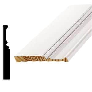 WP 20 11/16 in. x 6 in. x 96 in. Wood Primed Pine Finger-Jointed Base Moulding