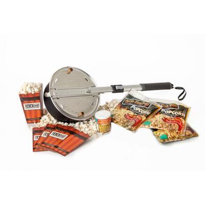 13-Piece Aluminum Black Popcorn Popper Set