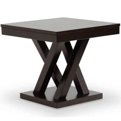 Everdon Dark Brown End Table