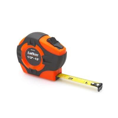 1/2 in. x 12 ft. P1000 Series Hi-Viz Orange Yellow Clad A1 Blade Power Return Tape Measure