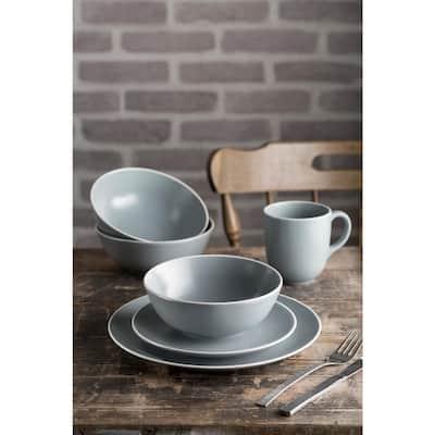Classic 450 ml Gray Ceramic Mug (Set of 4)