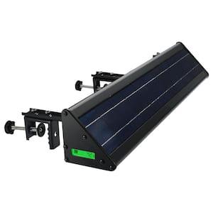 Solar 20-Watt 2000 Lumens 5000K Black Sign Triangle LED Spotlight