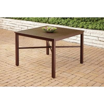 Mix and Match Square Metal Outdoor Dining Table