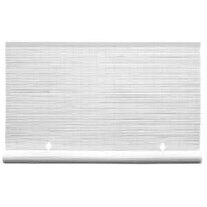 White Cordless Light Filtering UV Protection Vinyl Manual Roll-Up Shade 60 in. W x 72 in. L (2-Pack)