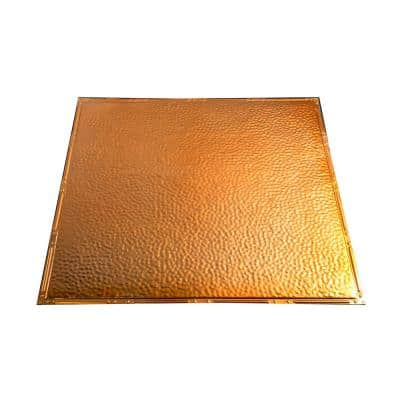Chicago 2 ft. x 2 ft. Nail-Up Tin Ceiling Tile in Copper (Case of 5)