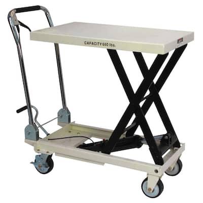 SLT-660F Table Scissor Lift Utility Cart with Folding Handle