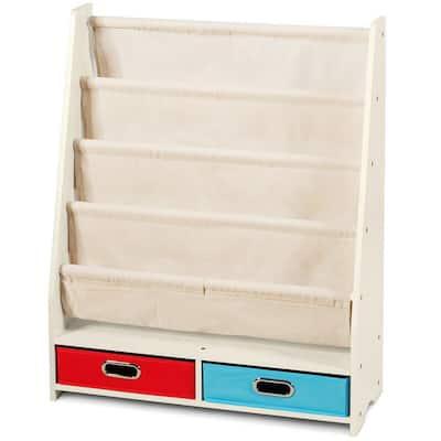 Beige 4-Layer Kids Book Rack