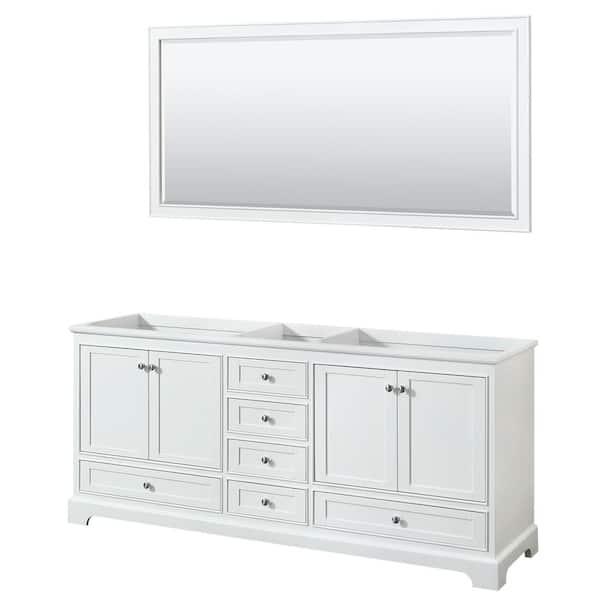 Double Bathroom Vanity Cabinet Only, 70 Bathroom Vanity
