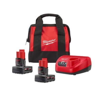 M12 12-Volt Lithium-Ion Starter Kit with Two 4.0 Ah Battery Packs and Charger
