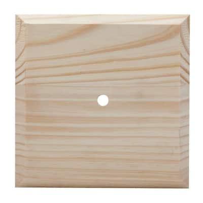 6 in. x 6 in. Wood Flat Jumbo Post Cap
