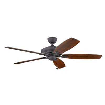 Canfield XL 60 in. Indoor Distressed Black Downrod Mount Ceiling Fan