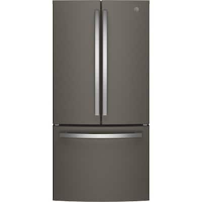 33 in. W 18.6 cu. ft. French Door Refrigerator in Slate, Counter Depth, Fingerprint Resistant