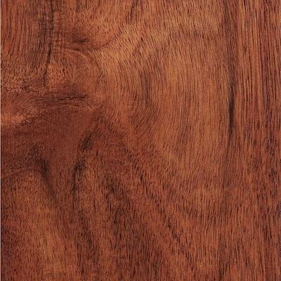 Hand Scraped Teak Amber Acacia 3/8 in. T x 4-3/4 in. W x Varying Length Click Lock Hardwood Flooring (24.94 sq.ft./case)